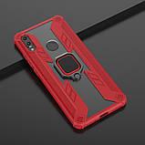 KEYSION защитный чехол Xiaomi Redmi Note 8T с кольцом с прозрачной вставкой Цвет Красный, фото 2