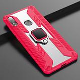 KEYSION защитный чехол Xiaomi Redmi Note 8T с кольцом с прозрачной вставкой Цвет Красный, фото 3