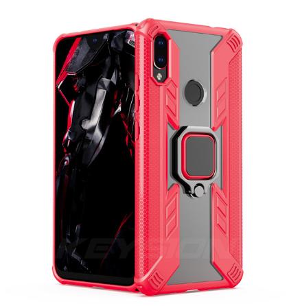 KEYSION защитный чехол Xiaomi Redmi Note 8T с кольцом с прозрачной вставкой Цвет Красный