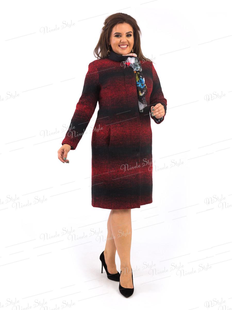 Элегантное красное женское пальто 384 54