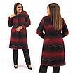 Элегантное красное женское пальто 384 54, фото 3