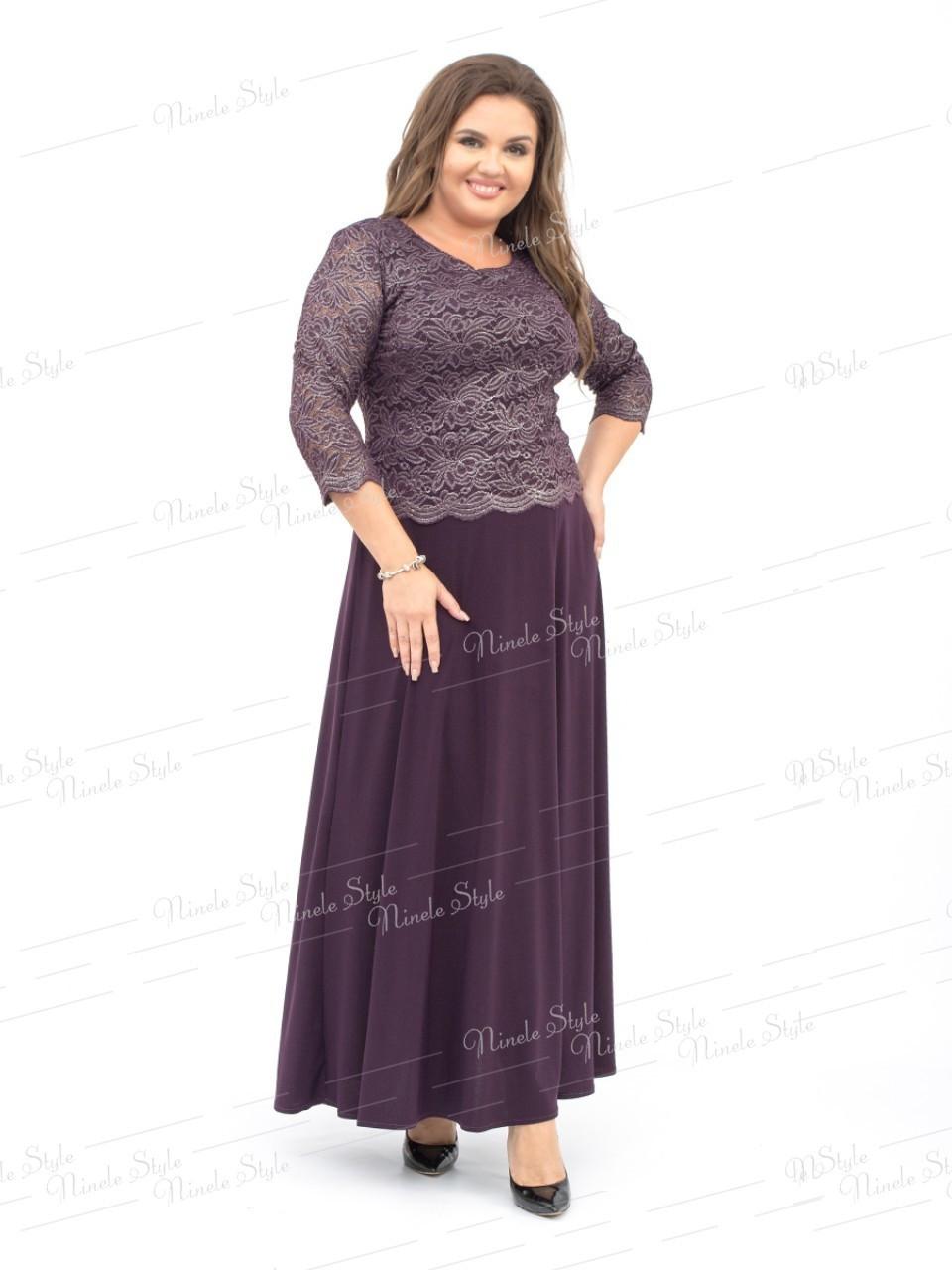 Нарядное вечернее фиолетовое женское платье модель 316-3 56