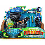 Dreamworks Как приручить дракона 3 дракон беззубик и викинг 20103697 Dragons Toothless and Hiccup Dragon with, фото 3