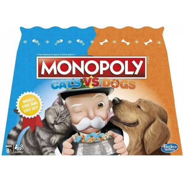 Hasbro Игра настольная Монополия кошки против собак E5793000 Monopoly Cats Vs. Dogs Board Game