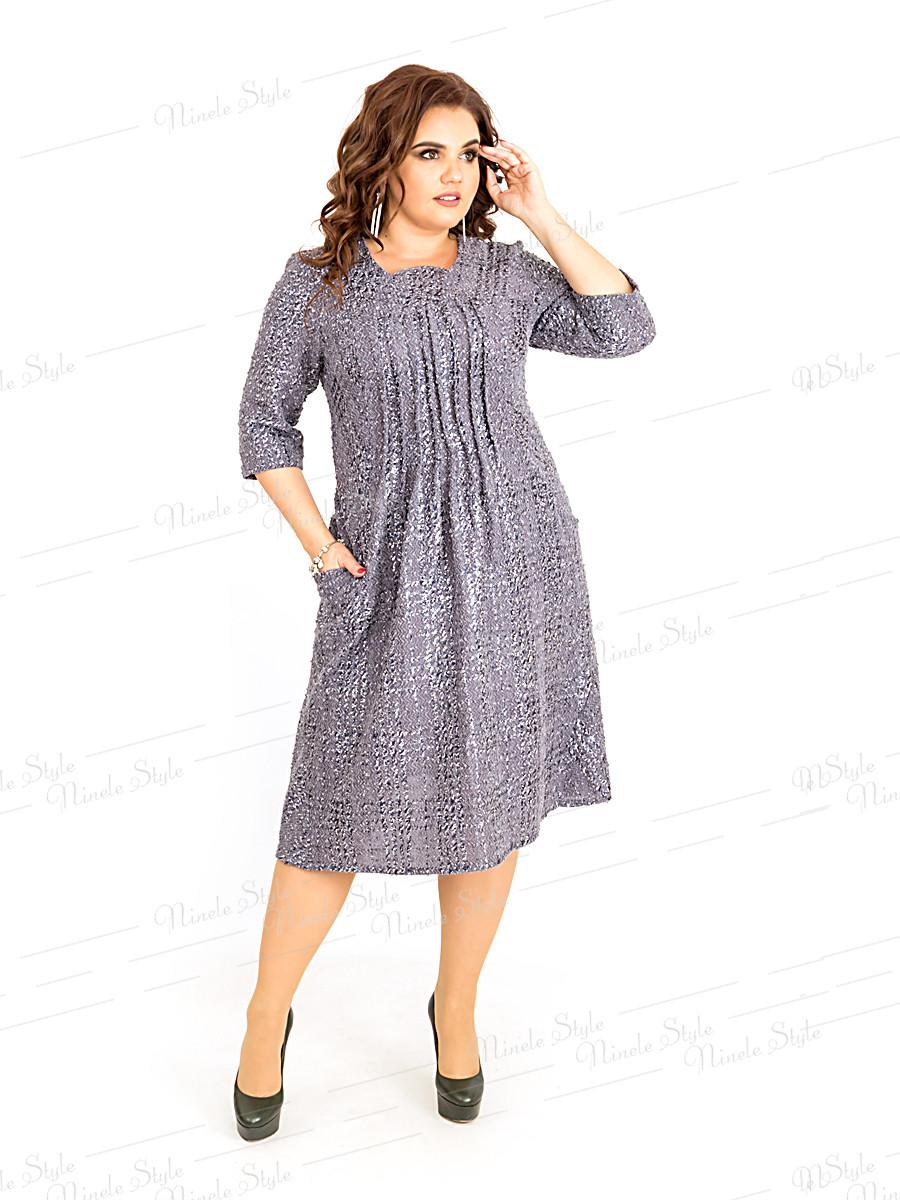 Платье женское в клетку 386 54
