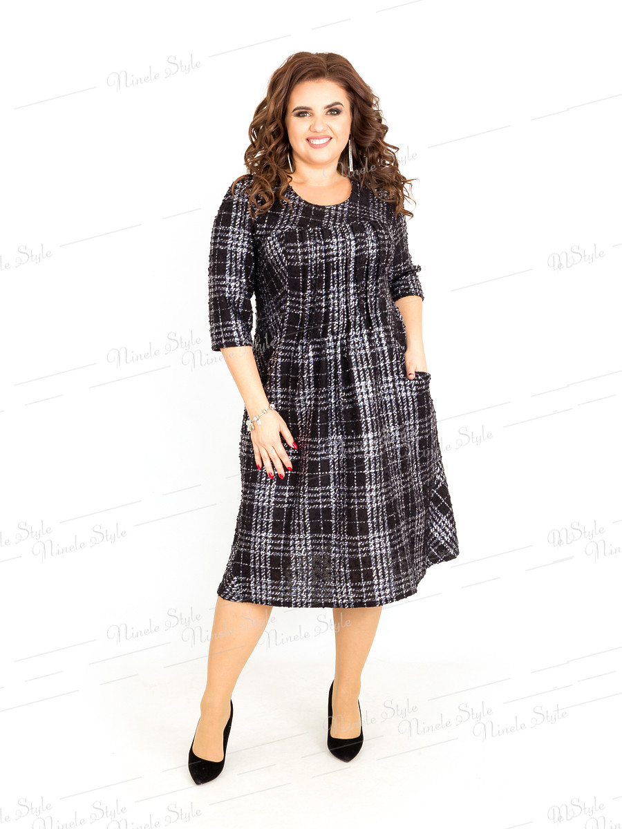 Платье женское в клетку 386-1 54