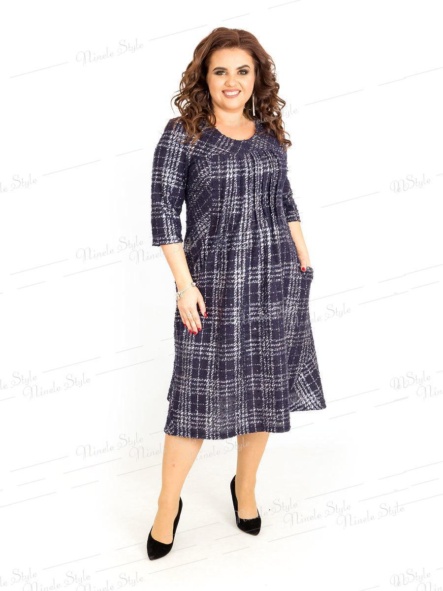 Платье женское в клетку 386-2 54