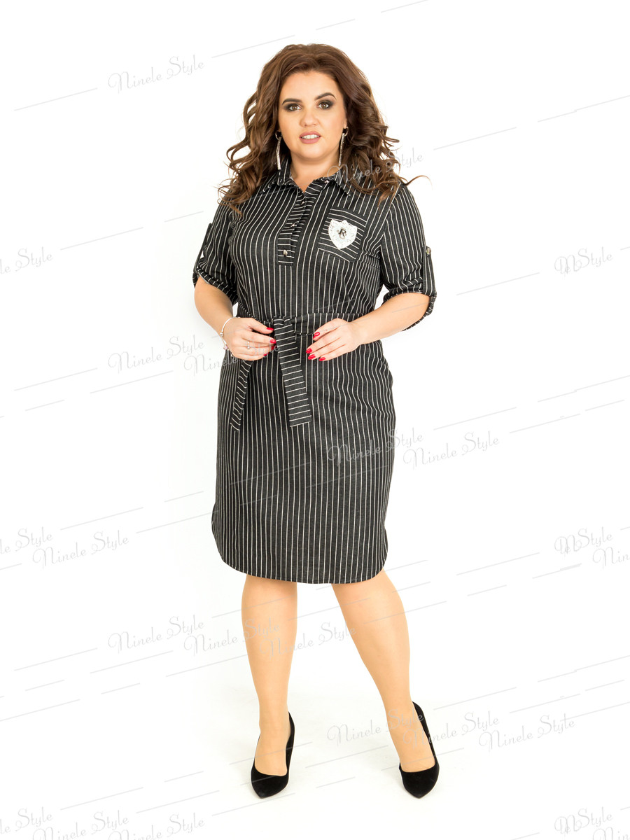 Платье-рубашка женское в полоску 399-3 54