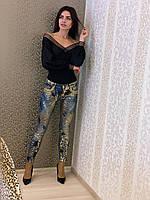 Женские джинсы с камнями Nice Istambul, фото 1