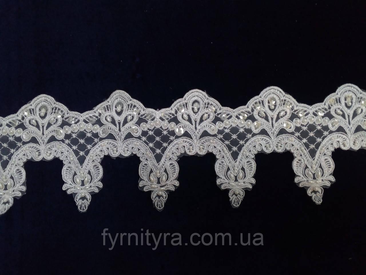 Мереживо весільну 11,5 см біле