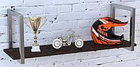 Полка Loft Design PL1-18-112 металл Венге Корсика хром (0031-1)