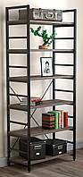 Стеллаж офисный Loft Design L190 металл Дуб Палена черный (0022-6)