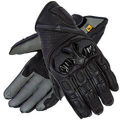 Мотоперчатки кожаные Rebelhorn Patrol Long (Black-Grey)