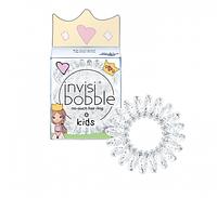Резинки для волос INVISIBOBBLE из коллекции KIDS Princess sparkle прозрачные с блестками 3шт/уп