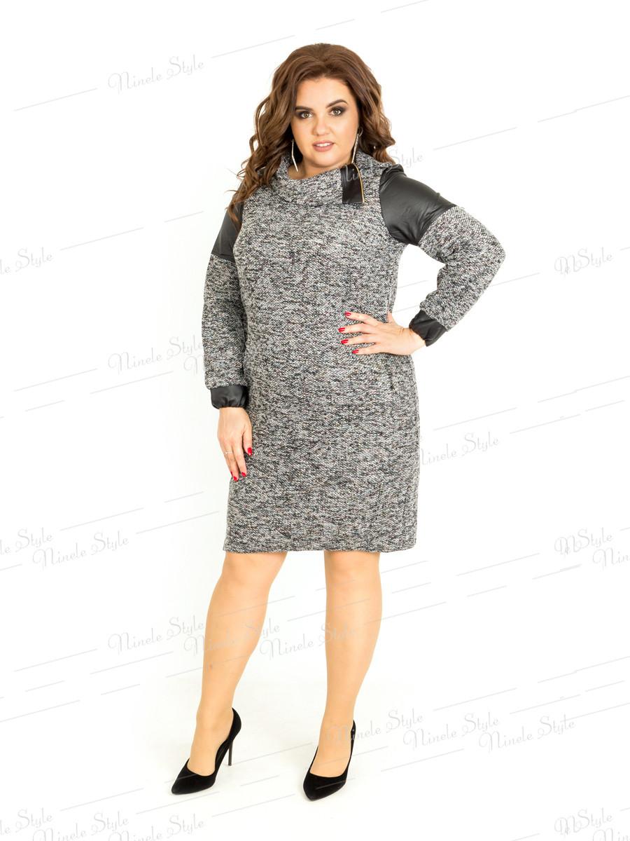 Серое повседневное женское платье  409 54