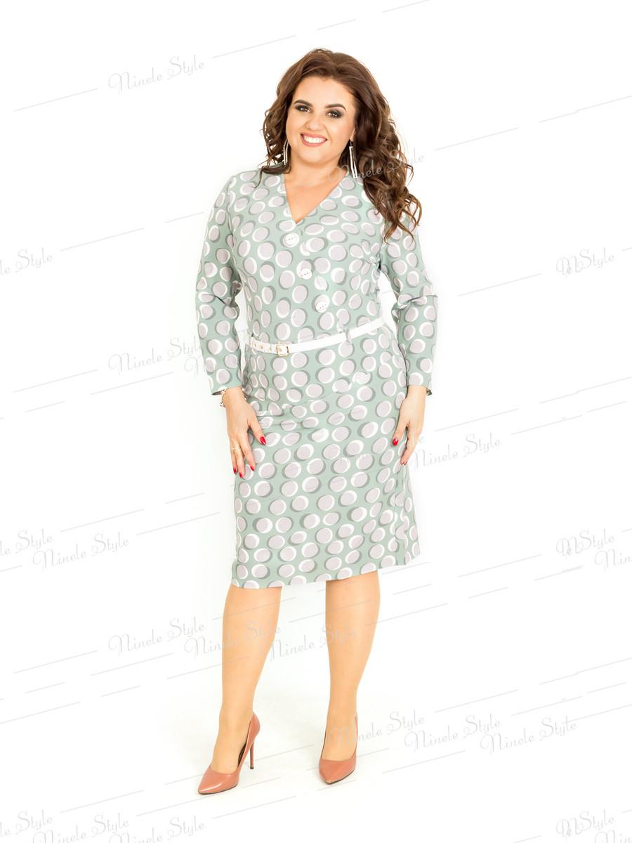 Повседневное женское платье в горох 407 54
