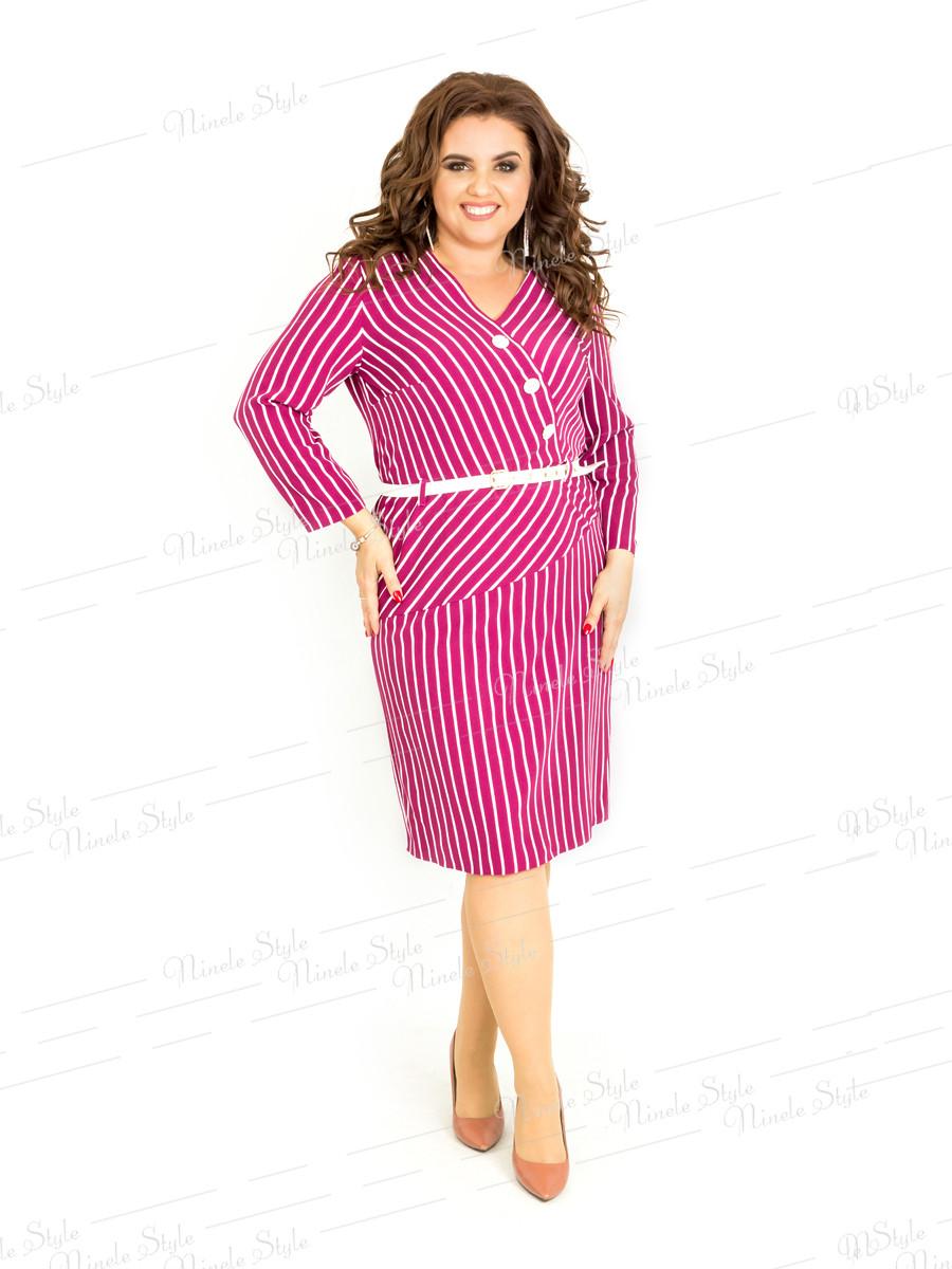 Повседневное женское платье в полоску 406-2 54
