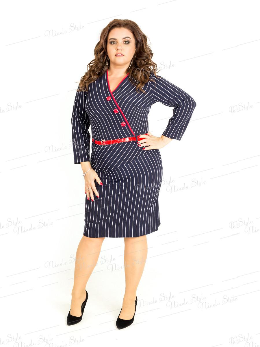 Повседневное женское платье в полоску 406-1 54