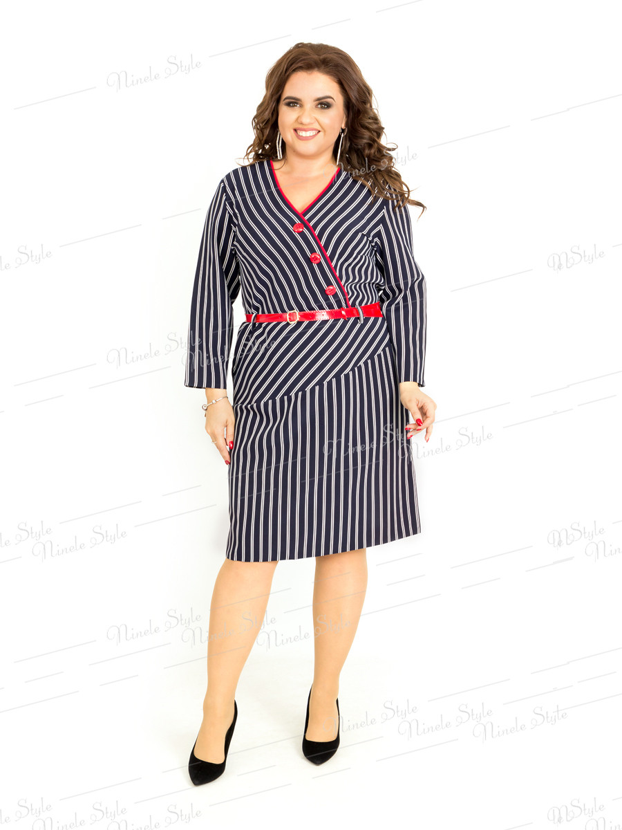 Повседневное женское платье в полоску 406 54