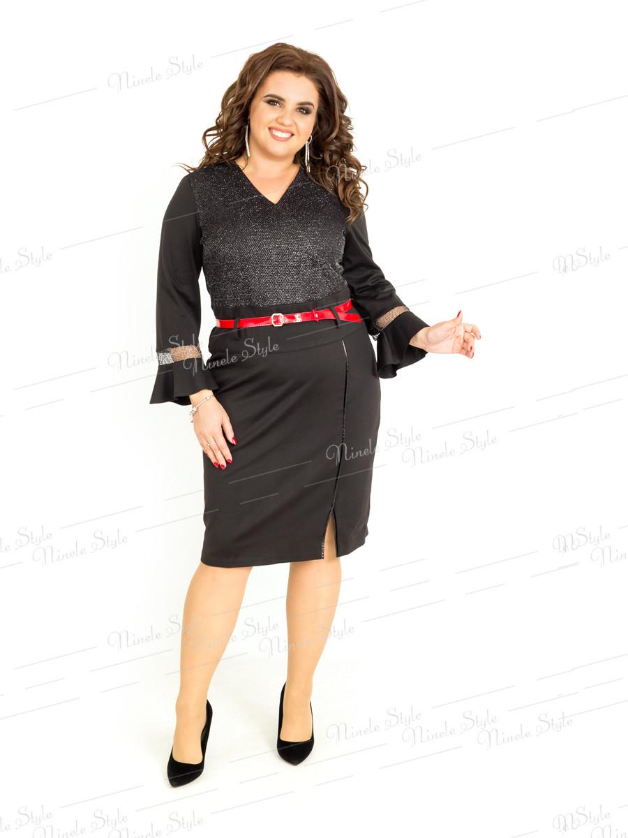 Повседневное женское черное платье 405 54