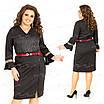Повседневное женское черное платье 405 54, фото 4