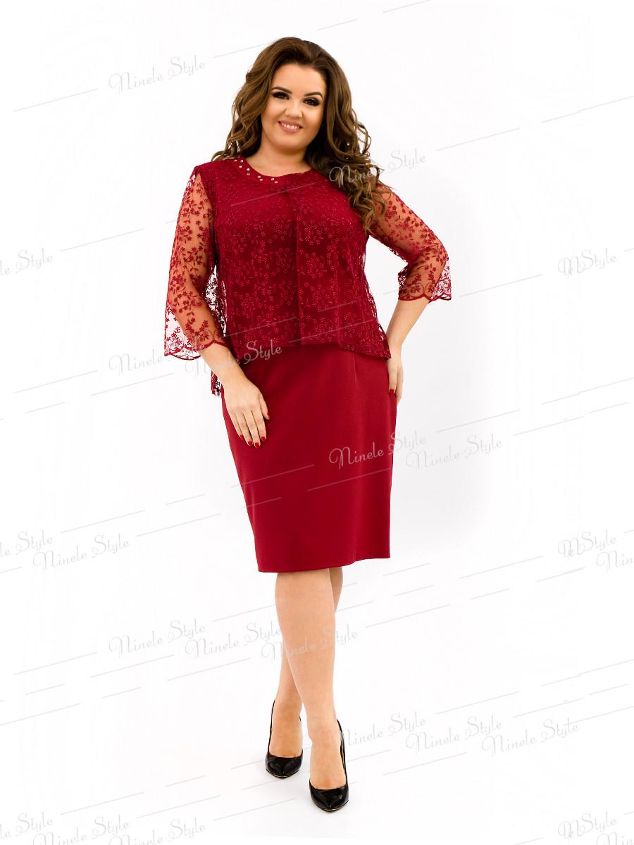 """Благородное красное женское платье """"Grace"""" 337-5 54"""