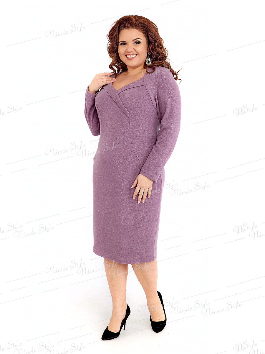 Повседневное трикотажное женское платье 412-1
