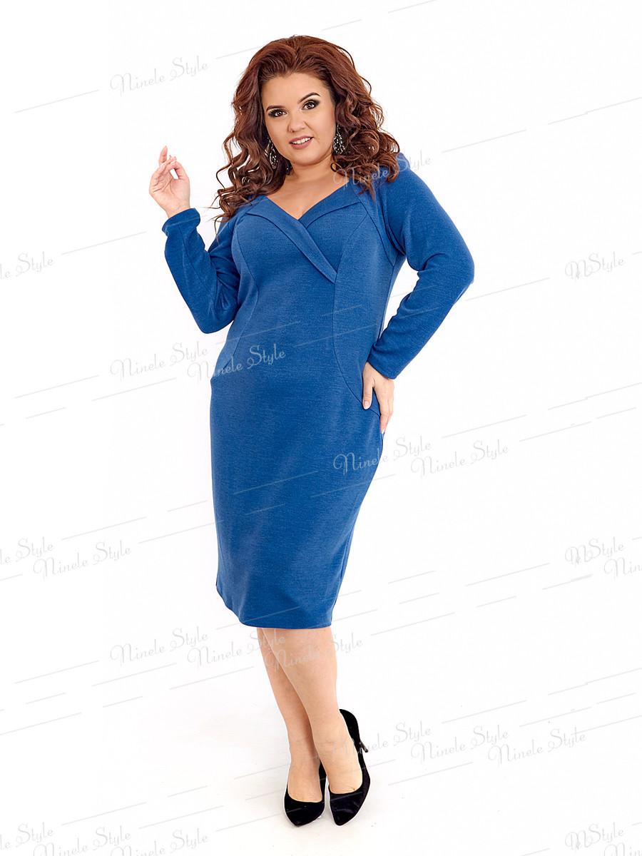 Повседневное трикотажное женское платье 412-2 54