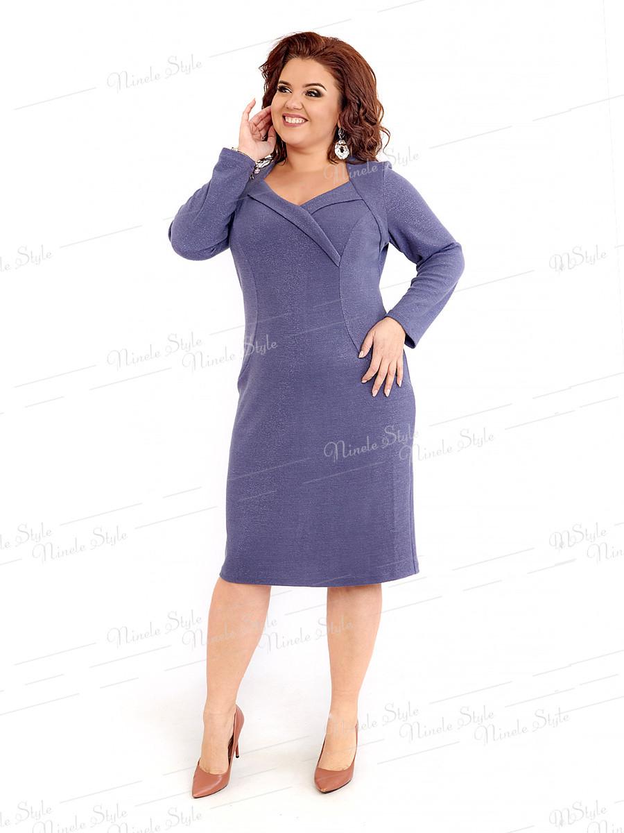 Повседневное трикотажное женское платье 412-4