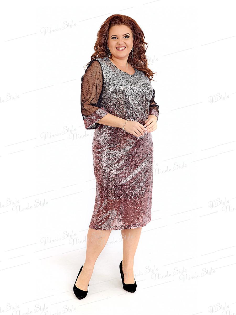 Нарядное женское платье 402-1 56