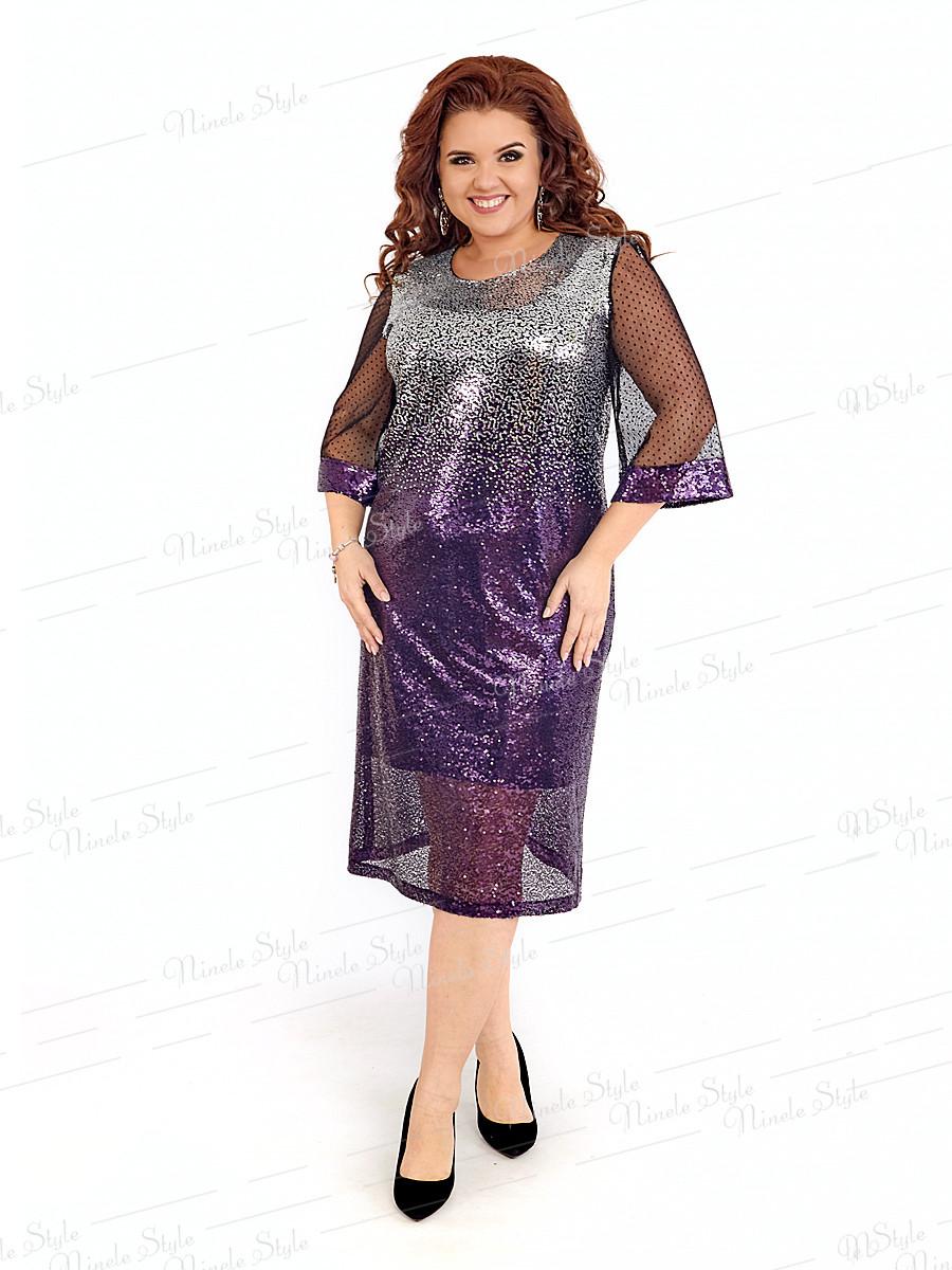 Нарядное женское платье 402-3 56