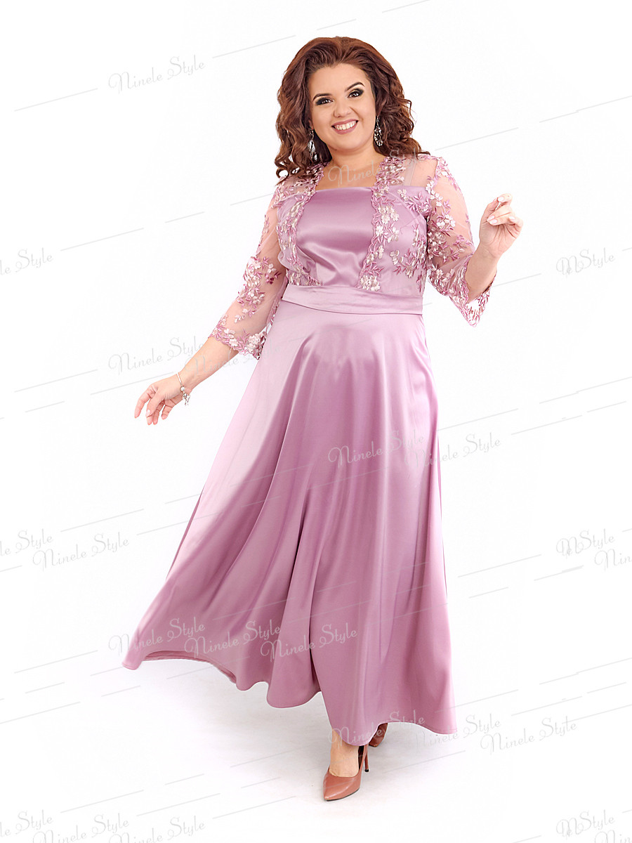 Нарядное длинное женское платье 401-3 54
