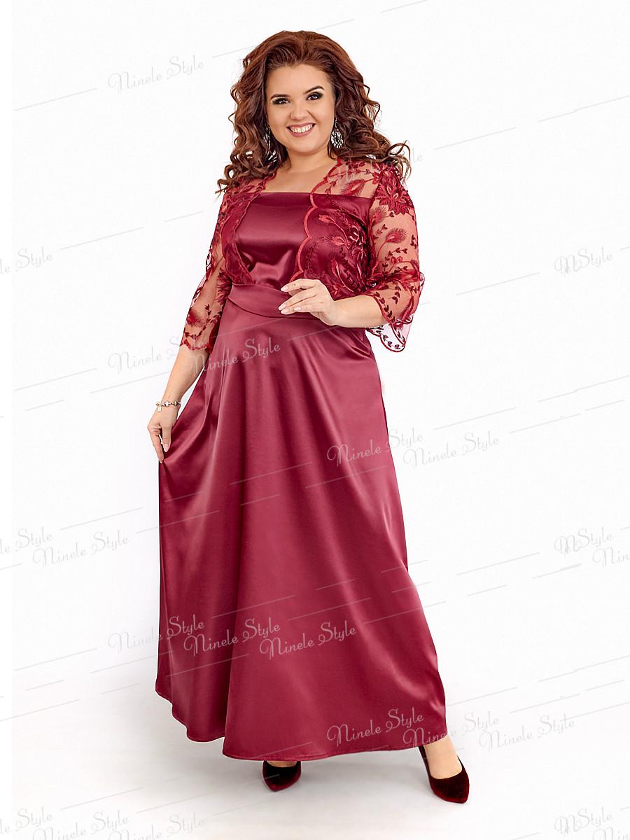 Длинное нарядное женское платье  401-5 54