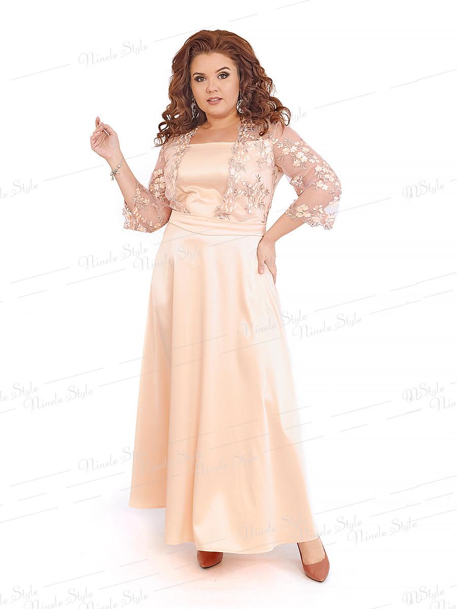 Длинное нарядное женское платье 401-4 54