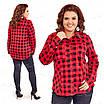 Теплая женская блузка в клетку 418 54, фото 4