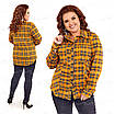 Теплая женская блузка в клетку 418-3 52, фото 4