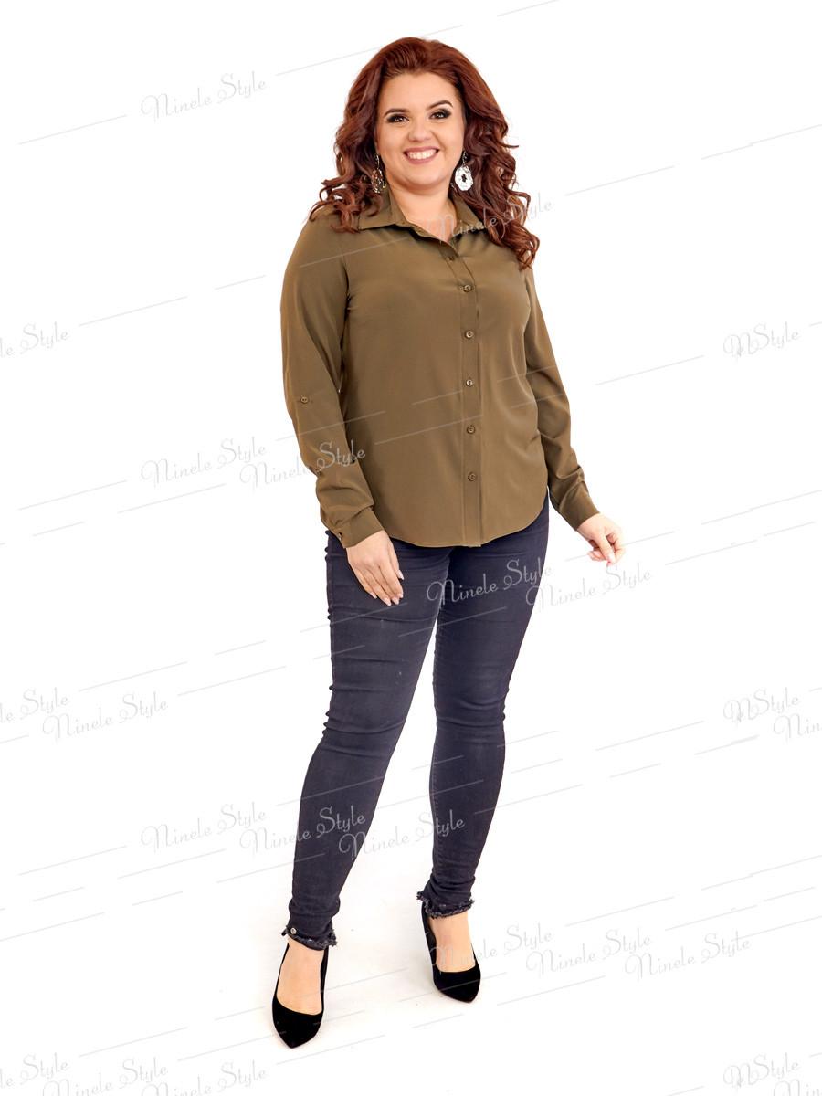 Классическая женская блузка 415-1 52