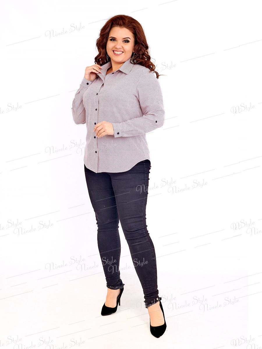Классическая женская блузка 415-4 52