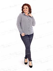 Классическая женская блузка 415-5 52