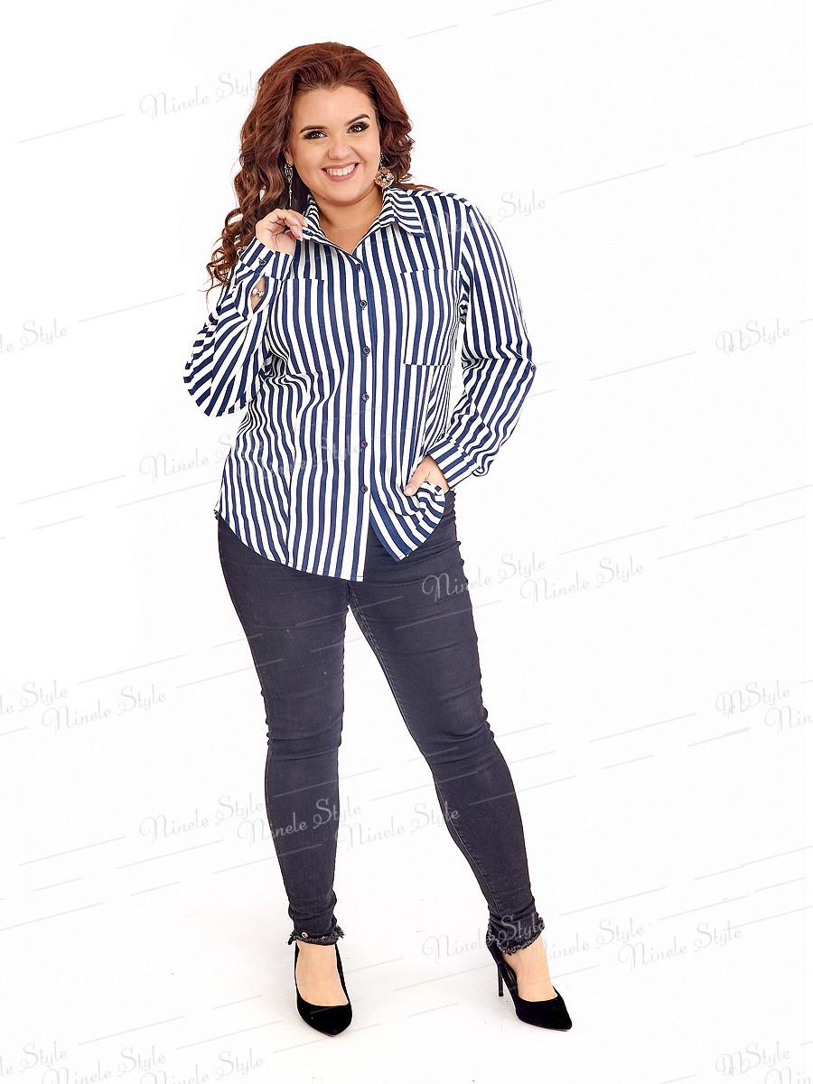 Классическая женская блузка 415-9 52