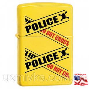 Зажигалка Zippo 28060 POLICE CAUTION желтая 28060