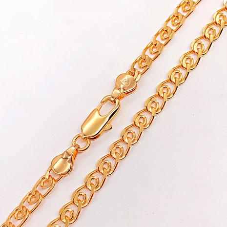 Цепочка Xuping Jewelry 50 см х 5 мм Лав медицинское золото, позолота 18К А/В 5076
