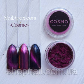 Магнитная пудра & втирка «Cosmo» (Космо) (№1) Малиново-золотая