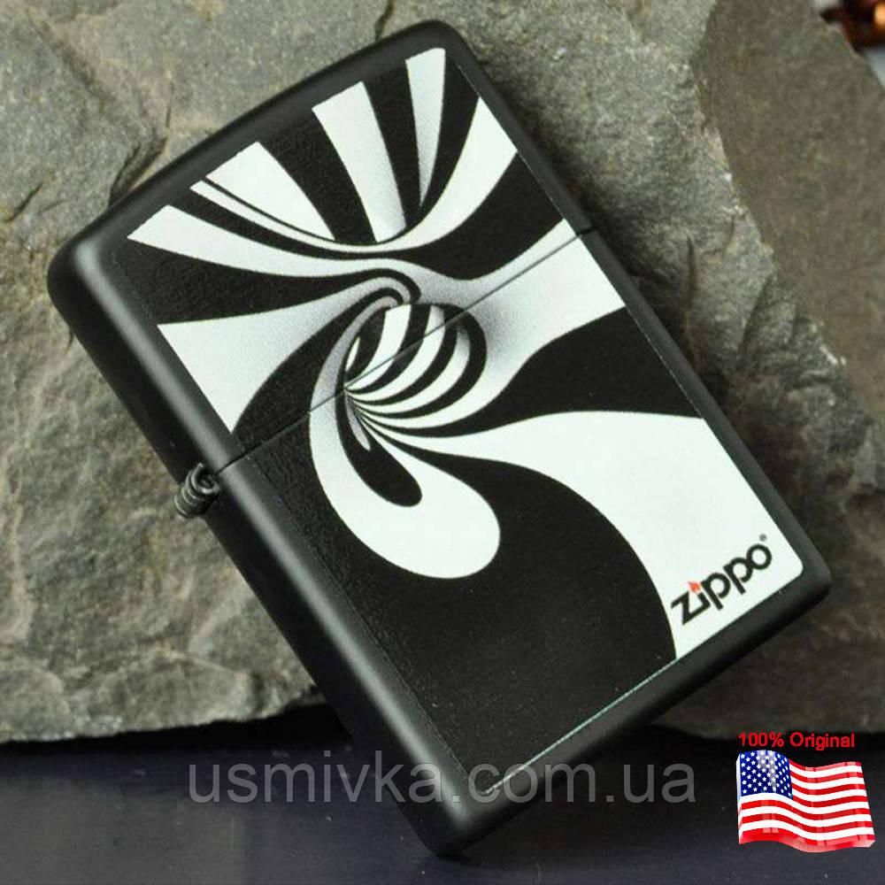 Зажигалка Zippo 28297 Spiral Black & White черная 28297
