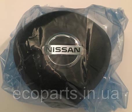 Подушка безопасности airbag в руль водительская Nissan Leaf 2018 черная, фото 2