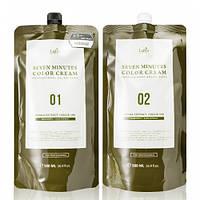 Краска для седых волос с экстрактом хны Lador Seven Perfect Cover Up Натуральный коричневый