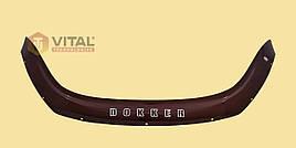 Мухобойка, дефлектор капота Dacia Dokker 2012 (Vip tuning)