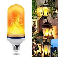 LED Лампа з ефектом полум'я вогню Flame Bulb New А+ E27, фото 1