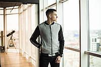 """Бомбер мужской фирменный Pobedov Bomber """"Molodost"""" Grey-Black"""