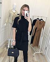 Платье трикотажное черное 42369